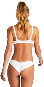 Vitamin A EcoLux Samba Ruched Back Bottom in White back