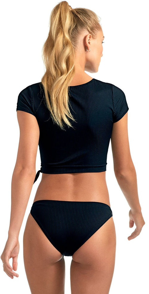 Vitamin A Eco Rib Rica Crop Top in Black 91RG ERB