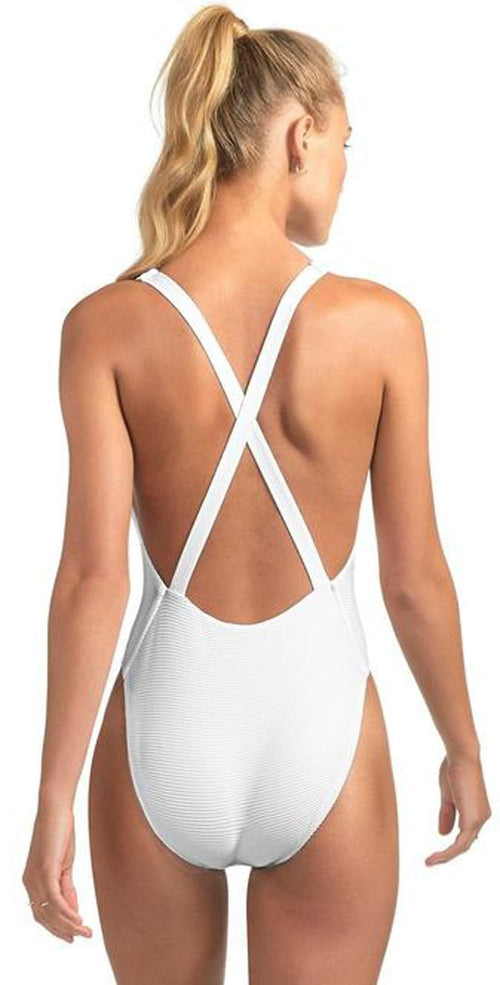 Vitamin A Alana BioRib Full Bottom One Piece in White 929MF WBR: