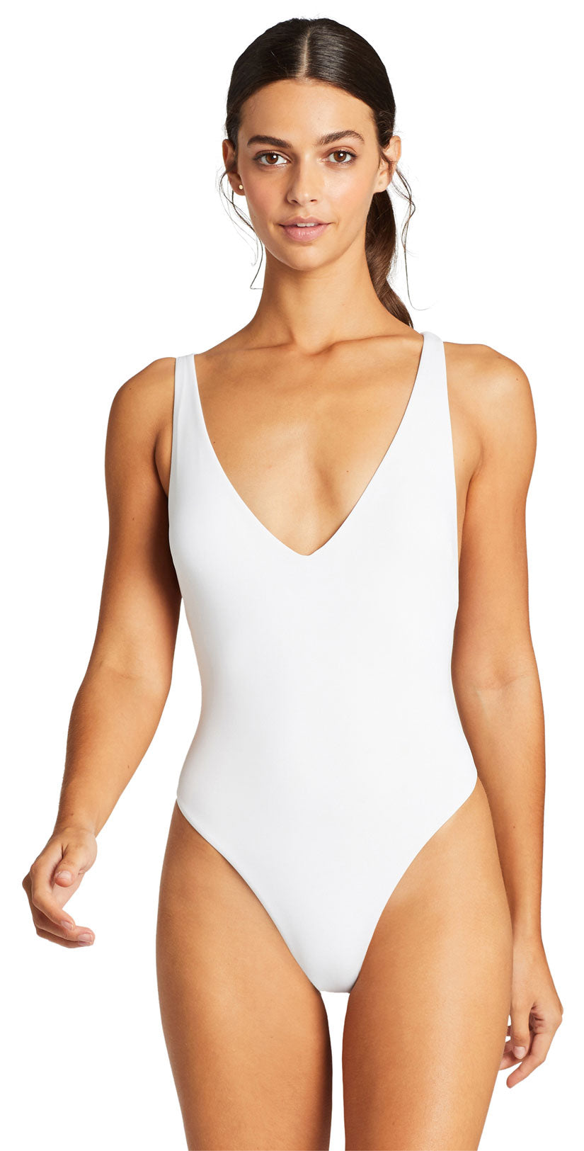 Vitamin A EcoLux Alana One Piece Bodysuit in White front