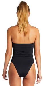 Vitamin A EcoLux Marylyn One Piece Swimsuit in Black 930M ECB back no straps