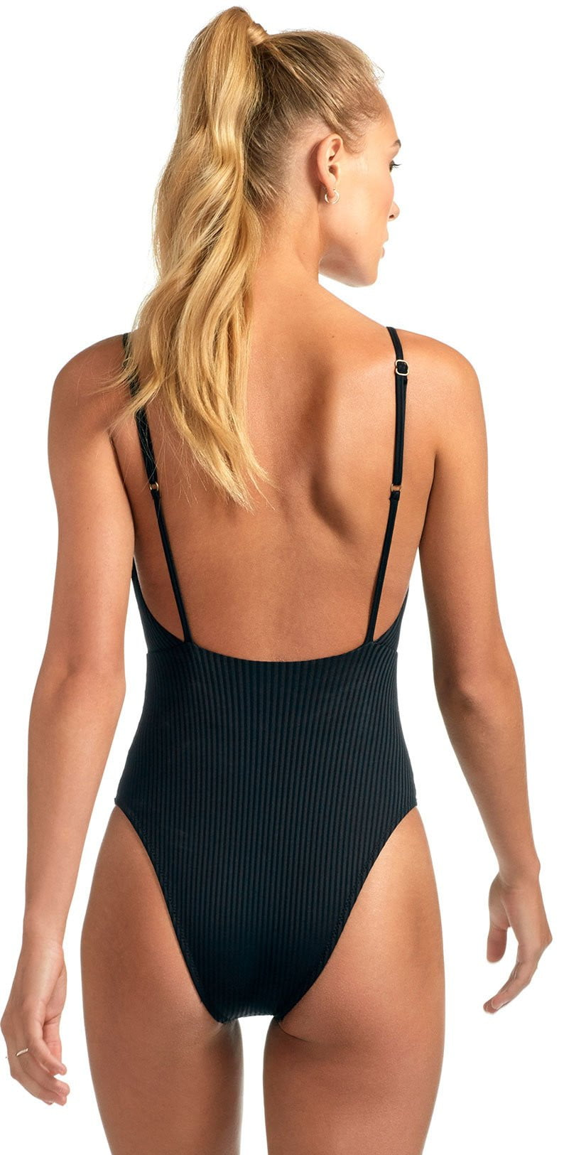 Vitamin A Eco Rib Alma Bodysuit In Black 931M ERB & 931MF ERB: