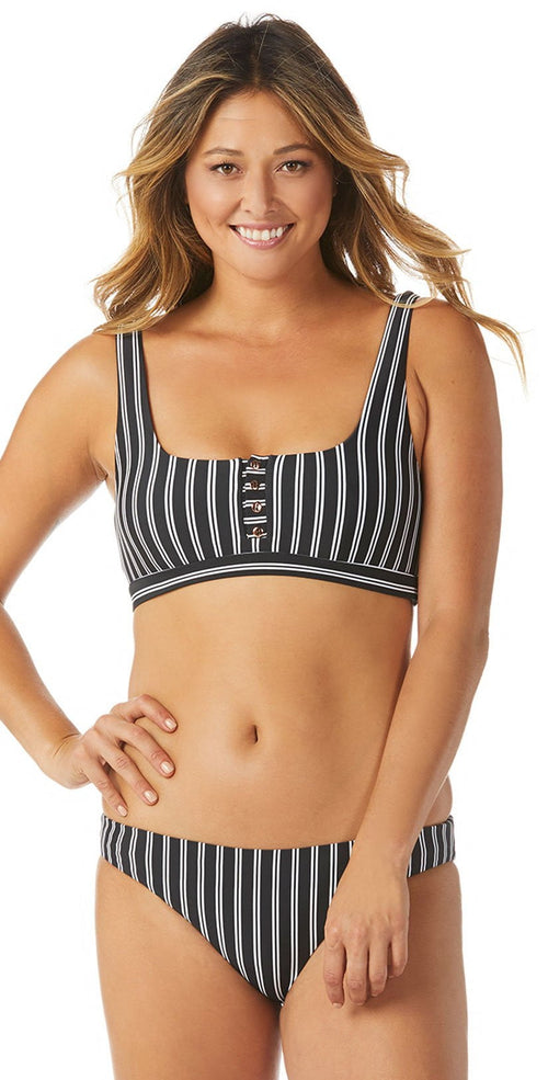 Raisins Del Mar Stripe Bella Bikini Top A711850-BLK: