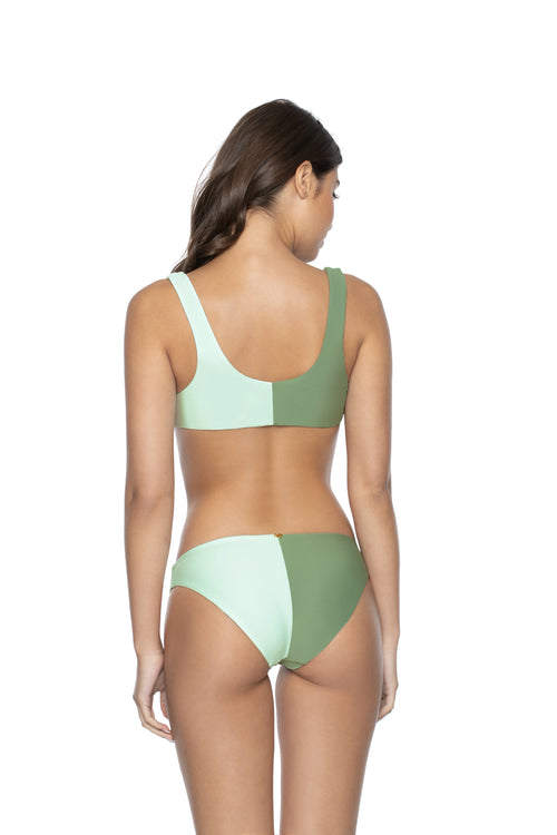 PilyQ Azura Two Tone Tie Halter Bikini Top Back