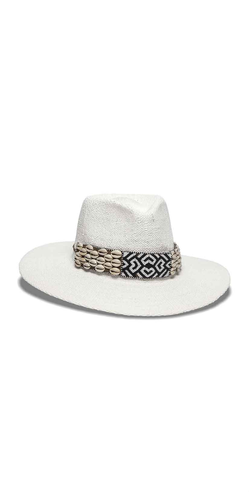 Nikki Beach Amico Hat in Black and White: