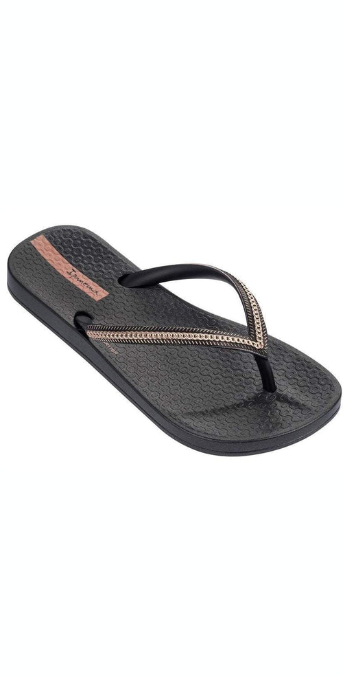 Ipanema Ana Metallic II Kids Flip Flop in Black 82386-BLK: