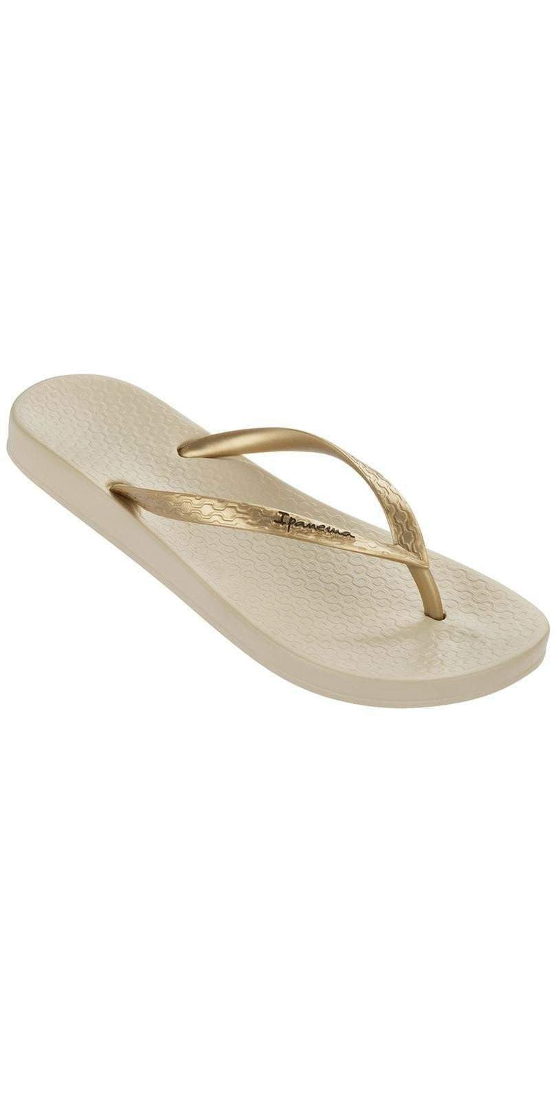 Ipanema Ana Tan Flip Flop in Beige/Gold 81030-BG/GLD: