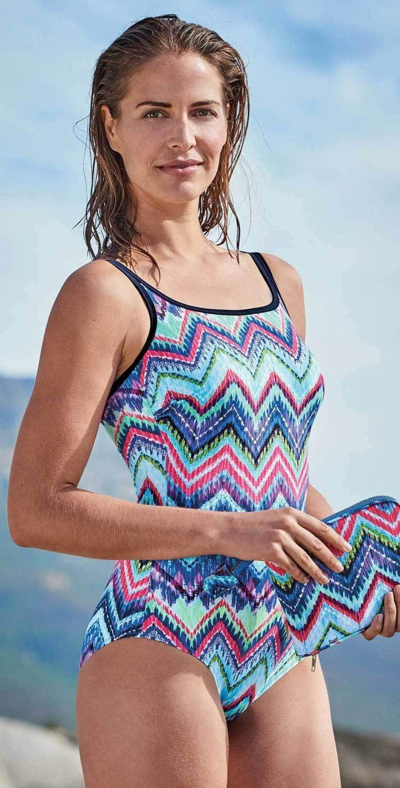 Anita Care Chevron Tie Dye Mastectomy One Piece 6232-009: