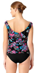 Anne Cole Off the Shoulder Wrap Tankini Top 18MT22356-Multi back studio