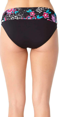 Anne Cole High Waist Skort Bottom in Navy 16MB 421-MULT