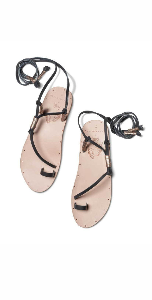 Vitamin A Beek Blue Bird Sandal in Black and Natural BLUEBKVA: