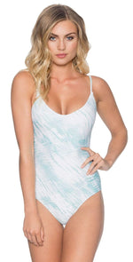 B. Swim Lani One Piece in Shoreline Tie Dye Blue UL115-SHTB: