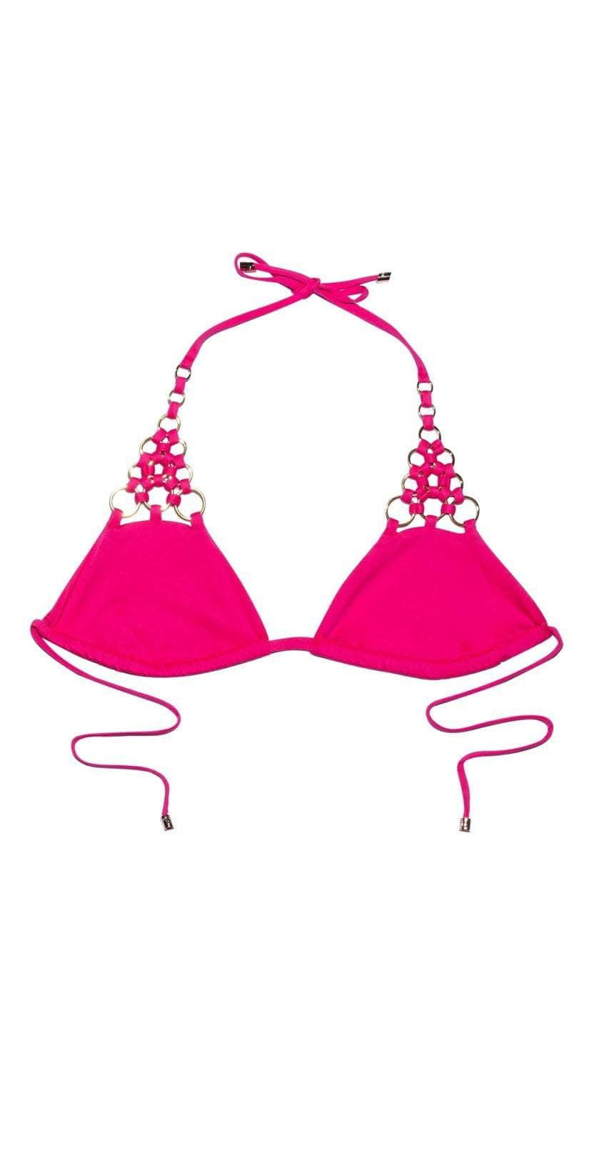 Beach Bunny Ireland Ring Tri Top In Pink B18127T2 BARB top only