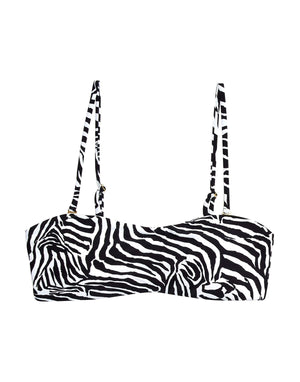 Beach Bunny London Bralette Bikini Top in Zebra B19105T2-ZEB: