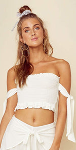 Blue Life Ivory Tasha Tube Top T137-0006-IVY: