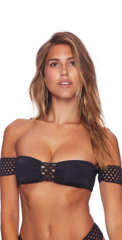 Beach Bunny Hayden Off Shoulder Black Bikini Top B18110T9-BLK