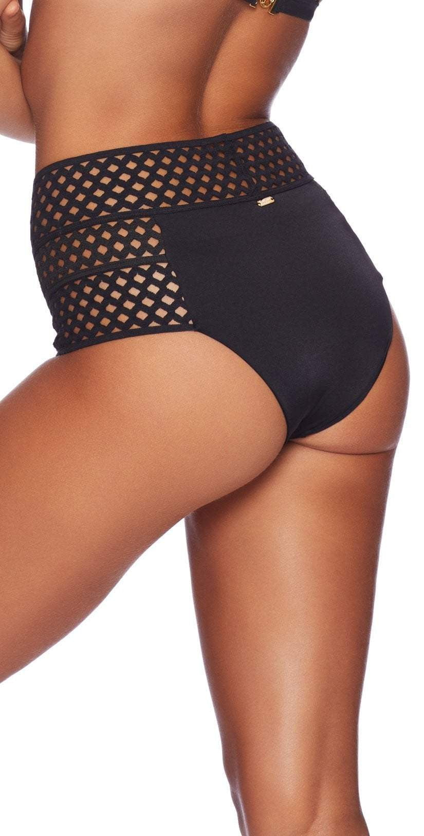 Beach Bunny Hayden High Waist Bottom In Black B18110B9-BLK: