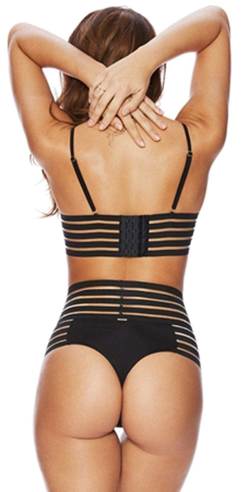 Beach Bunny Sheer Addiction Balconet Top in Black B16125T6-BLCK:
