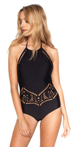 Beach Riot Arcadia Black One Piece: