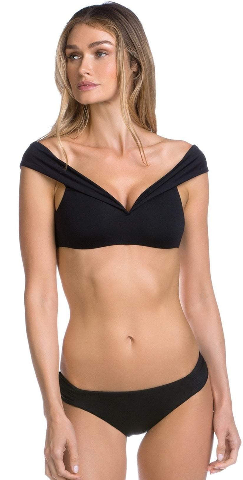 Becca Color Play American Fit Shirred Bottom 854397-BLK:
