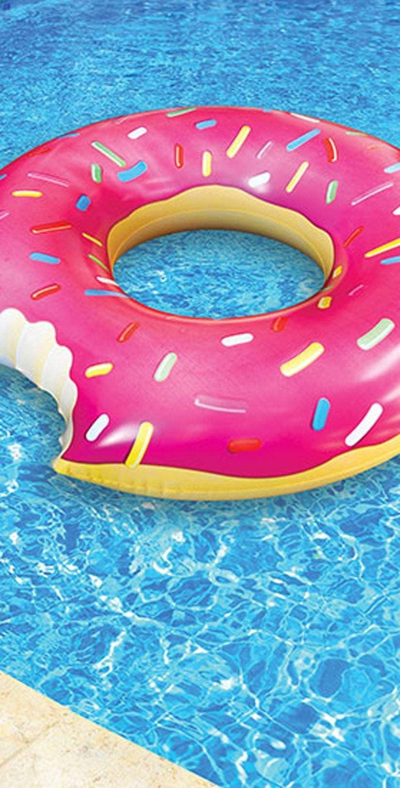 Big Mouth Giant Pink Frosted Donut Float BM1516:
