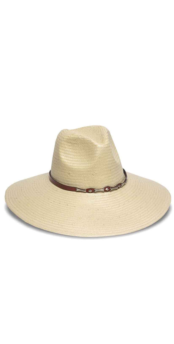 Nikki Beach Cabo Hat in Natural and White