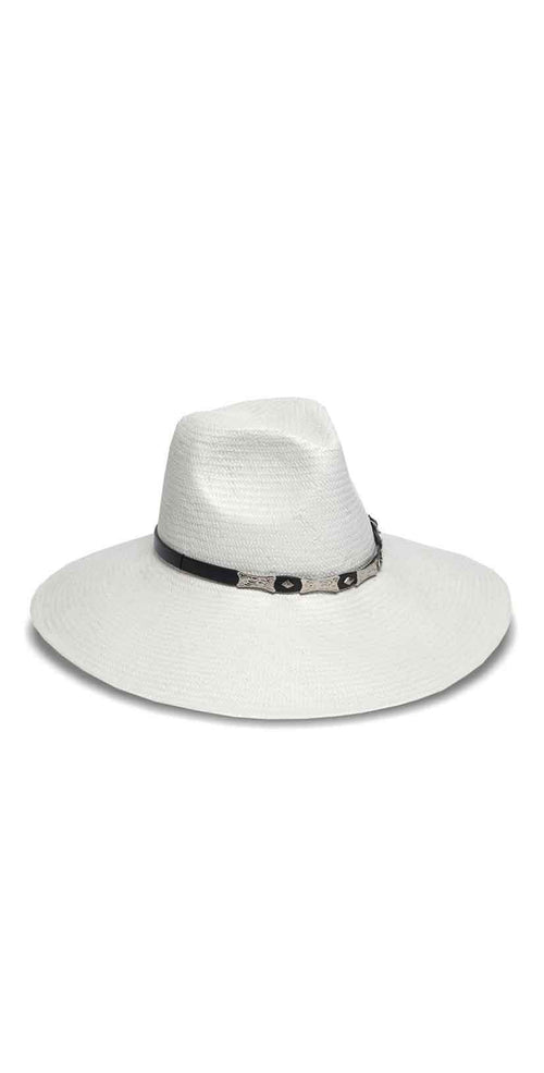 Nikki Beach Cabo Hat in Natural and White: