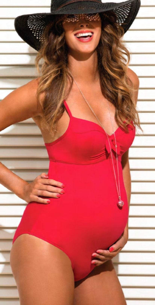 Women's Red Maternity underwire swimsuit