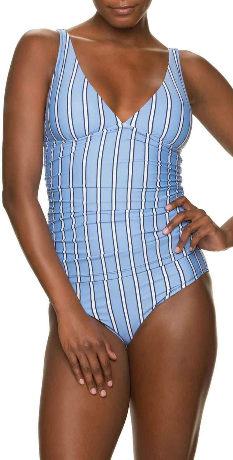 Draper James for Helen Jon Classic Hipster Bikini Bottom in Bold Stripe: