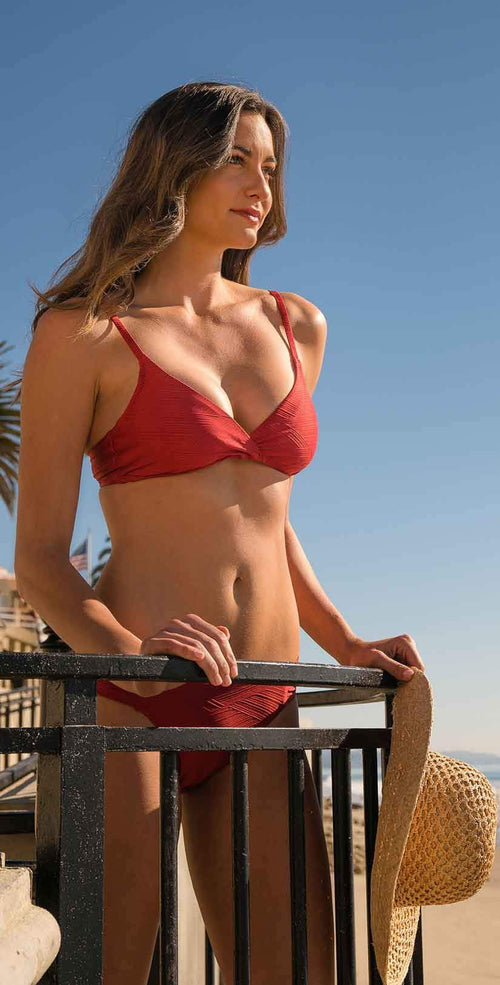 Helen Jon Floating Underwire Bra in TopSail Red:
