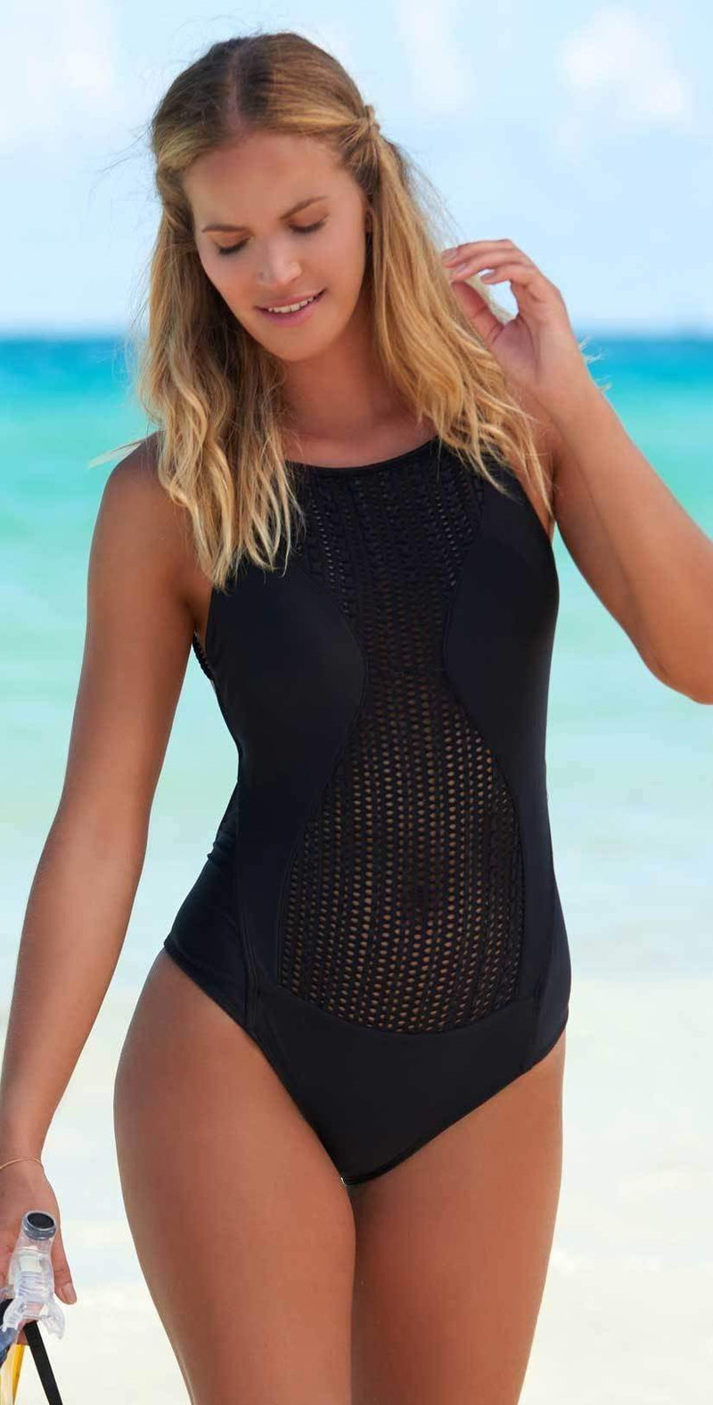 Despi New Dazzling One Piece In Black 1042BB: