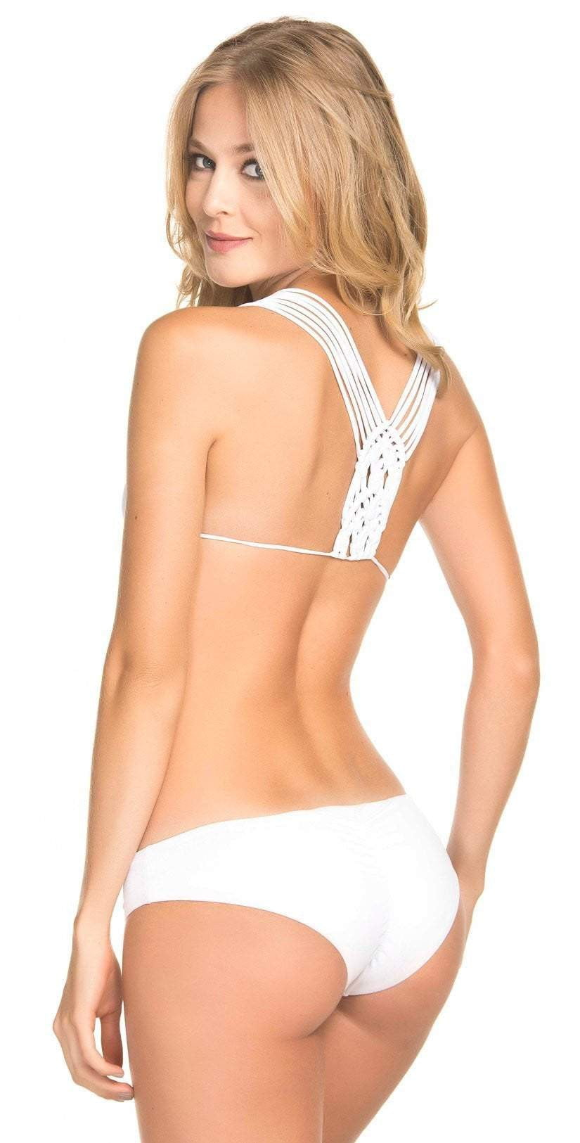 Dulzamara Fresh Bikini Set in White: