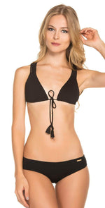 Dulzamara Pacific Bikini Set in Black: