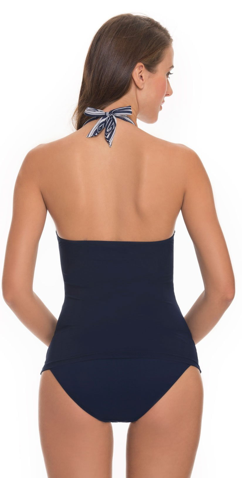 Profile By Gottex Cote d' Azur Halter Tankini Top Back View