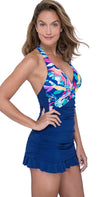 Profile by Gottex Bermuda Breeze Skirted Bottom One Piece: