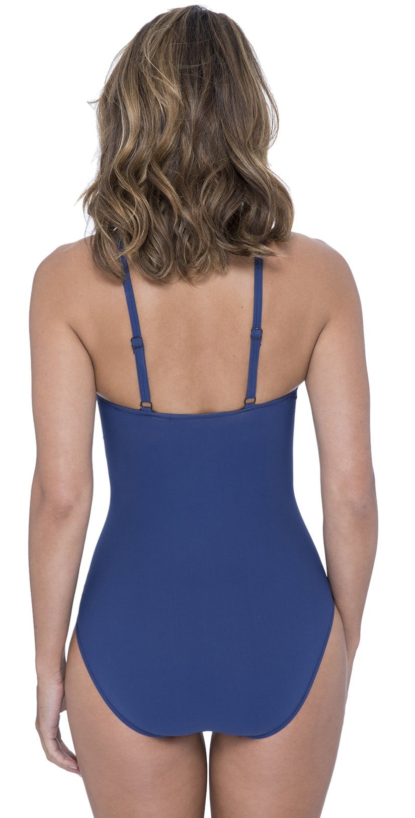 Profile by Gottex Murano One Piece High Neck Swimsuit in Petrol E932-2077-427: