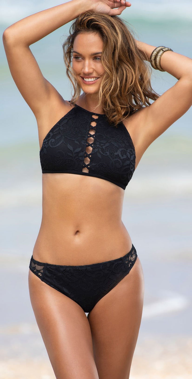 Profile by Gottex Shalimar High Neck Bikini Top E938 1B38 001:
