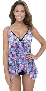 Profile by Gottex Fantasia Flyaway One-Piece Swimsuit E939-2091-080: