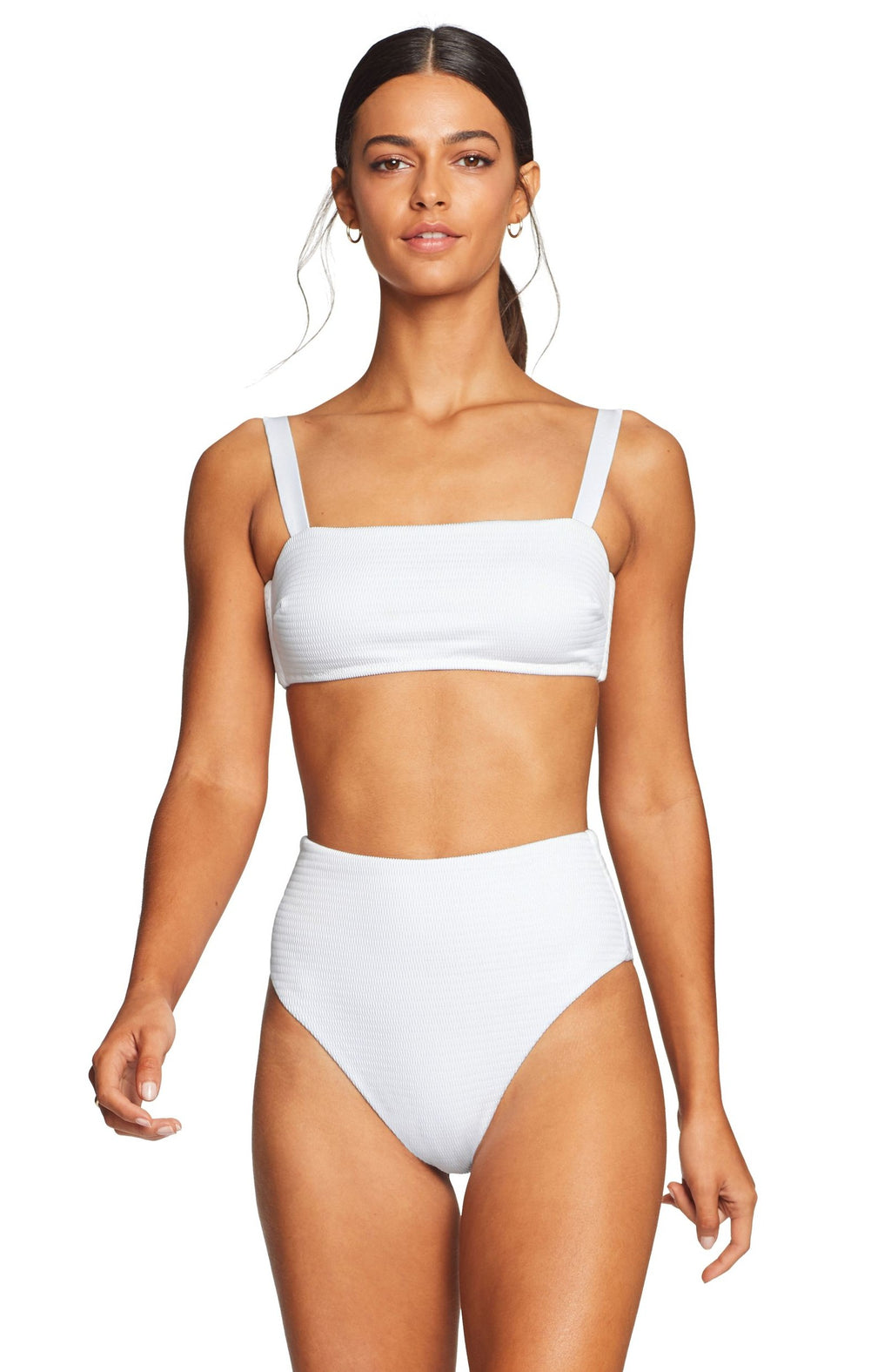 Vitamin A Barcelona Bikini Bottom in White EcoTex