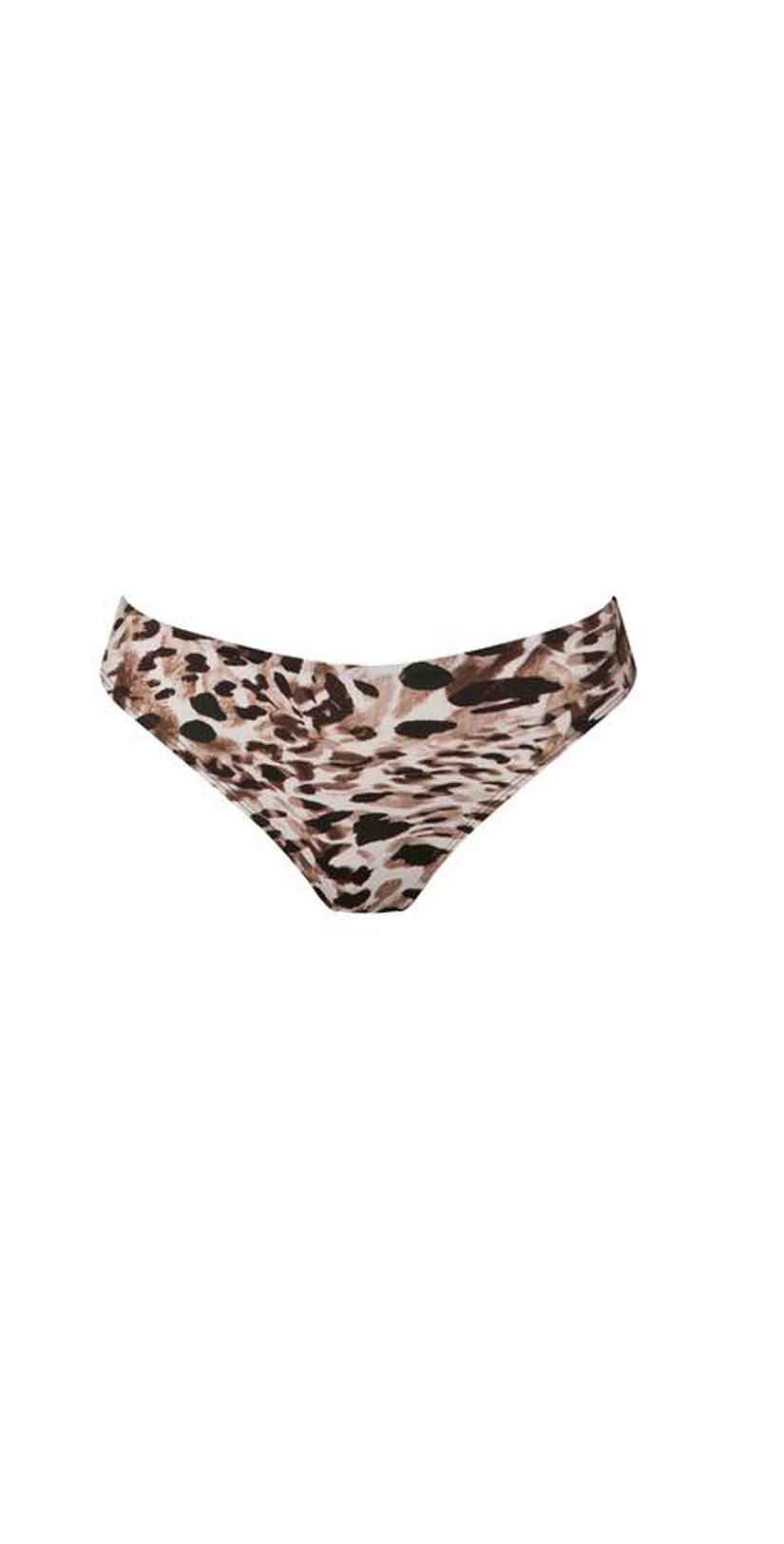 Ochie Swim Farrah Bikini Bottom in Animal