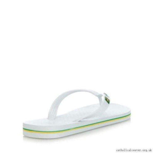 iPanema Men's Flag II Flip Flop in White 20797-WHT