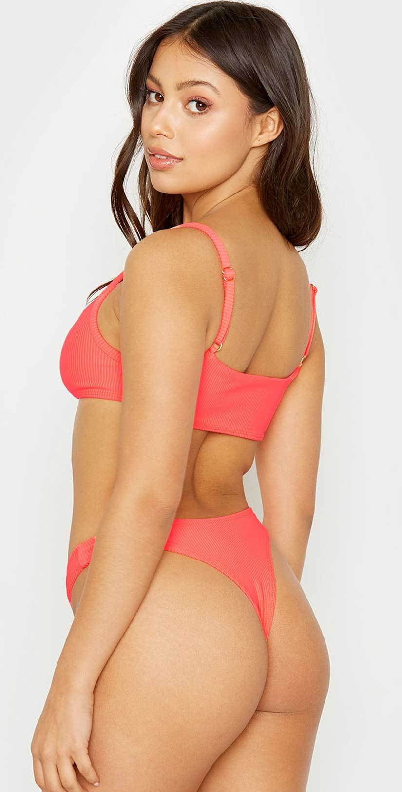 Frankies Bikinis Boots Bikini Bottom in Rave Heart: