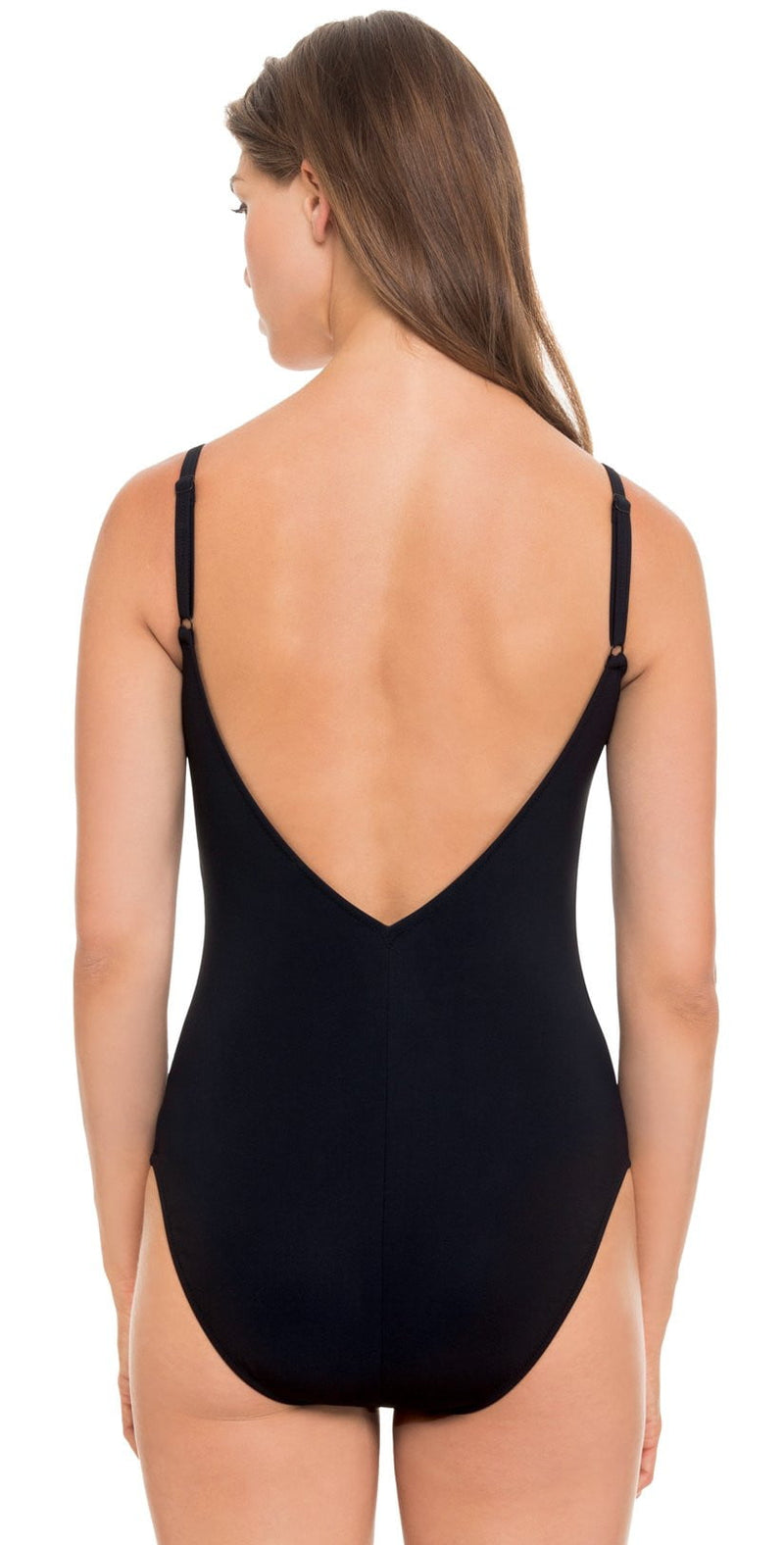 Profile by Gottex Hollywood One-Piece Swimsuit in Black E854-2074-001: