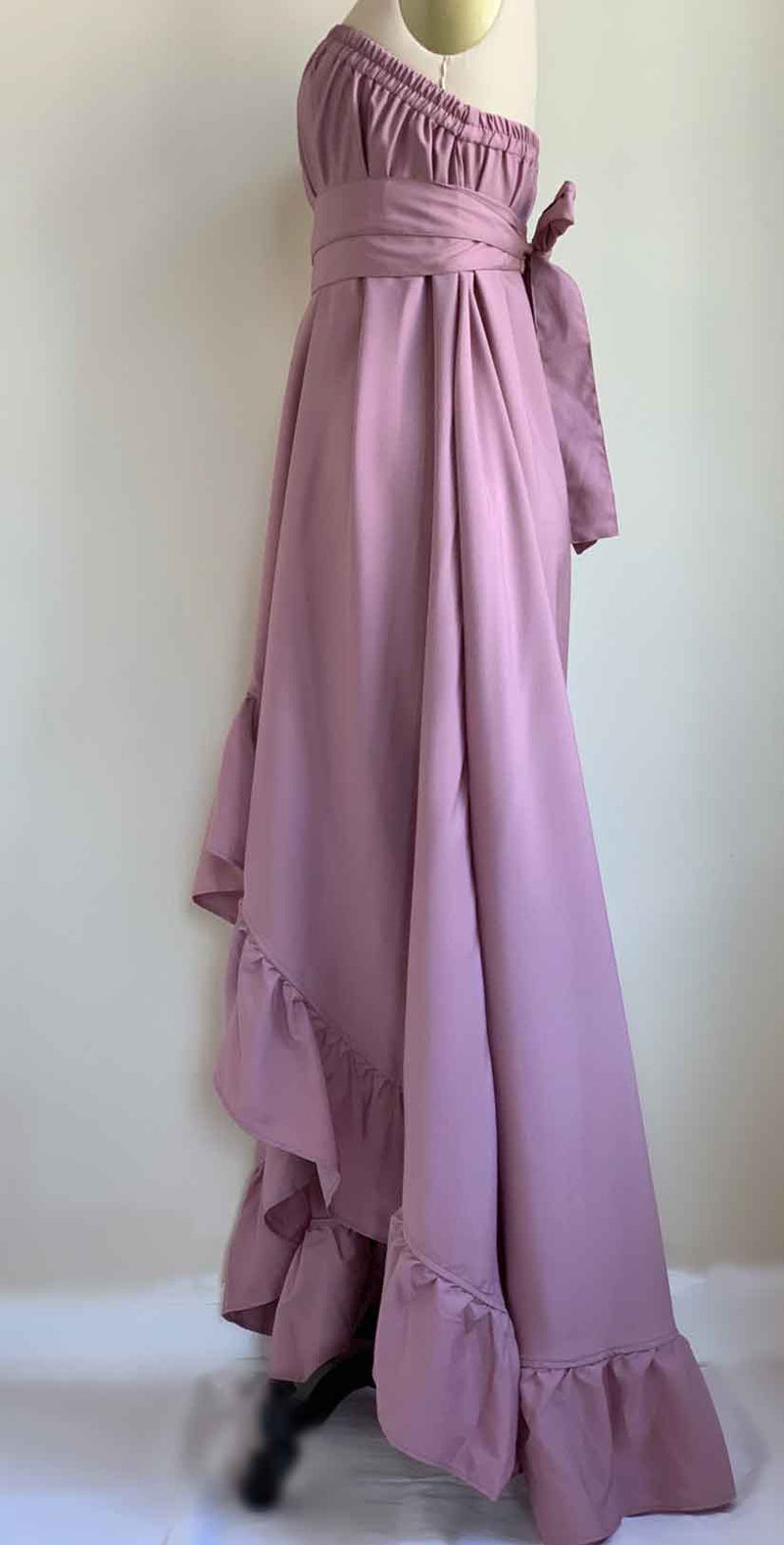 Camaroha Sutra Goddess Dress 5 Inch Ruffle in Mauve side