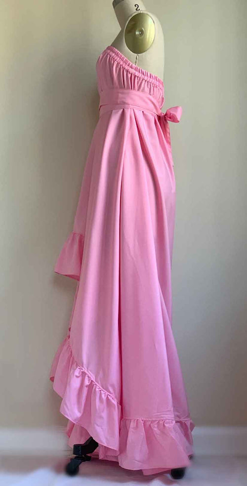 Camaroha Sutra Goddess Dress 5 Inch Ruffle in Palm Beach Pink side
