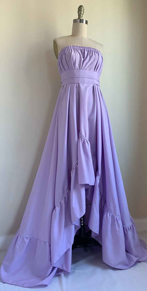 Goddess Dress 10 Inch Ruffle in Lavender front