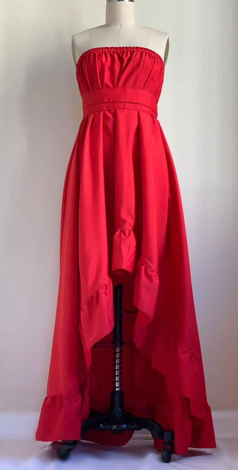 Camaroha Sutra Goddess Dress 5 Inch Ruffle in Red Hot  front