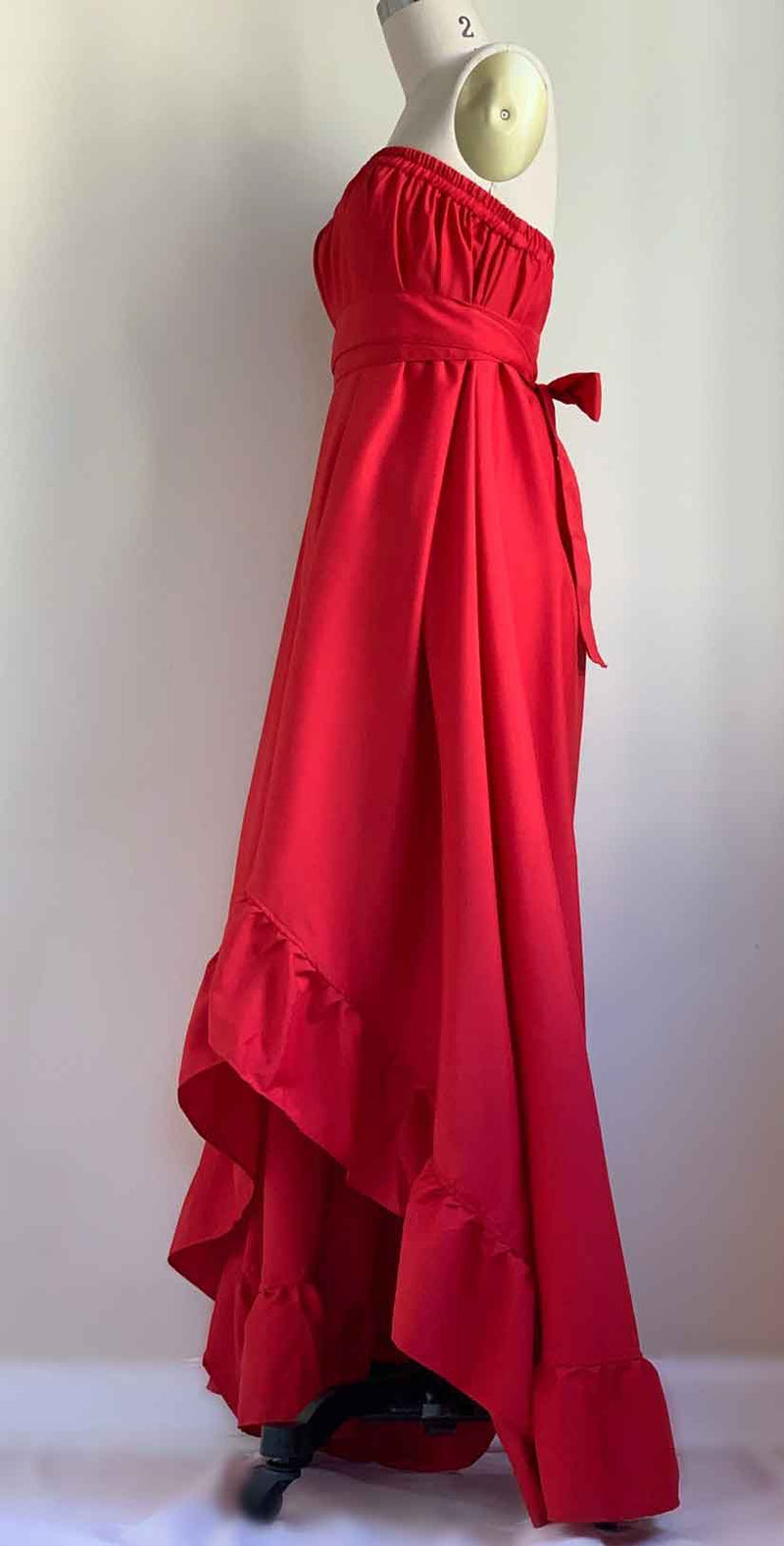 Camaroha Sutra Goddess Dress 5 Inch Ruffle in Red Hot side