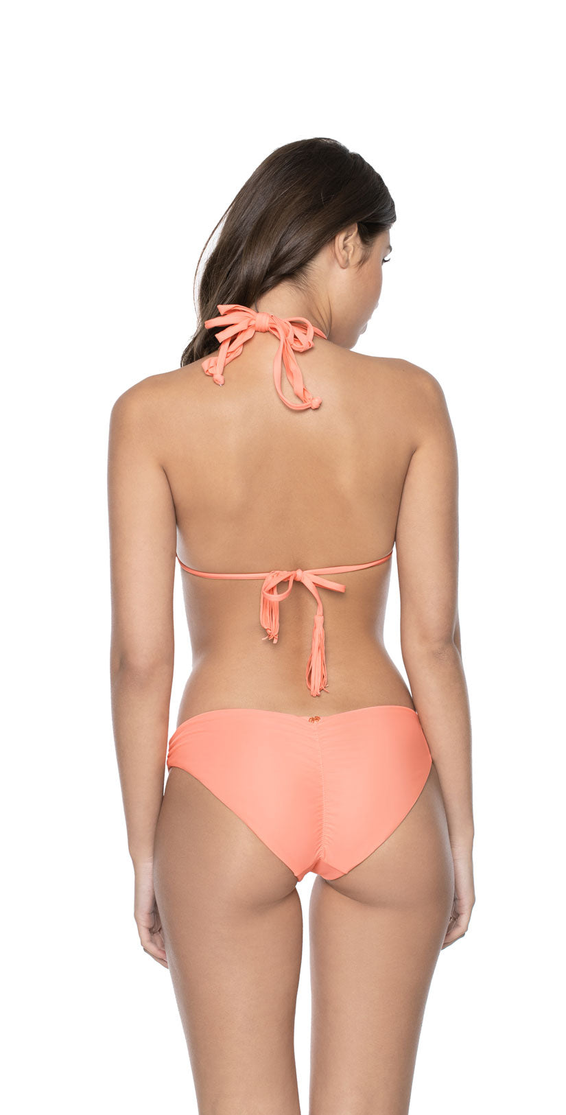 PilyQ Guava Basic Ruched Full Bottom  back