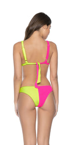 PilyQ Pineapple Reef Two Tone Teeny Bikini Bottom back
